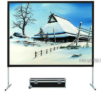 Fast Fold Portable White Gray Silver Rear Project 3D Projector Screen with Stand