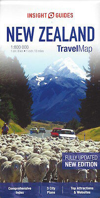 Insight Travel Map New Zealand *FREE SHIPPING - IN STOCK - NEW*