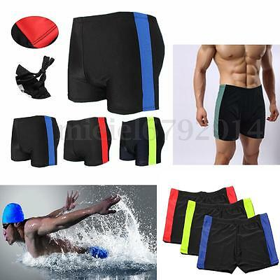 Men's Beach Boxer Briefs Swimming Trunks Shorts Pants Swimwears Underwear Colors