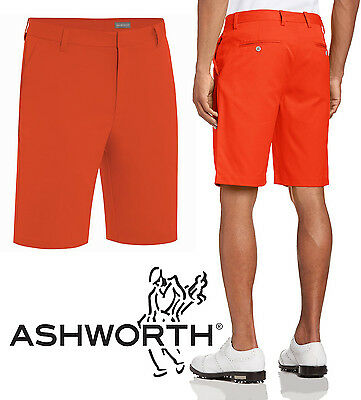 Ashworth Performance Solid Stretch Flat Front Golf Shorts RRP£44.99 W32 ONLY