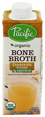 Pacific Natural Foods - Organic Bone Broth Chicken with Ginger - 8 oz.