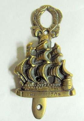 Small vintage door knocker with HMS Victory galleon detail 11052
