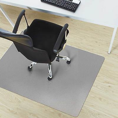 Grey Home Office Chair Mat * Non Slip Computer Desk Mat * Floor Protection Cover