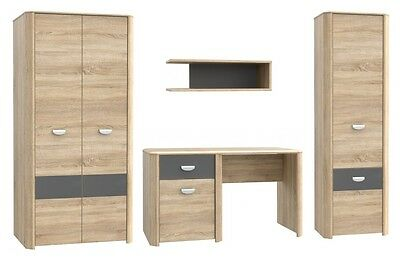 jugendzimmer salma wohnwand kleiderschrank regal. Black Bedroom Furniture Sets. Home Design Ideas