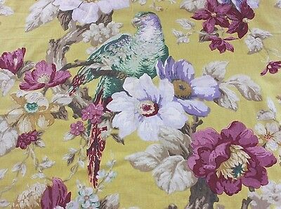 Stunning French Art Deco c1930 Home Dec Bird~Parrot Fabric Textile