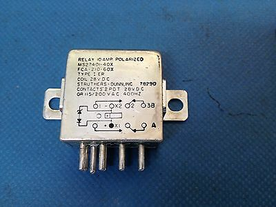 x1 FCA-210-60X General Purpose Relays COIL 28VDC CONTACTS 2 PDT 115/200VAC 400hz