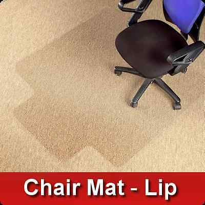 Polycarbonate Office Chair Mat Lip * Carpet Floor Protector * PVC Plastic FREE!