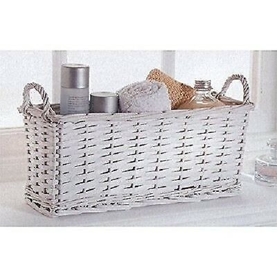 New Home Decor White Wicker Multi-Purpose Storage Basket