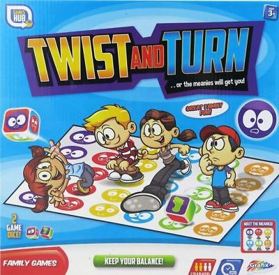 Grafix Twist And Turn Twister Kids Family Party Board Game