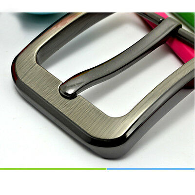Zinc Alloy Pin Type Metal Buckle for Snap On Leather Plain Belt Replacement 40mm