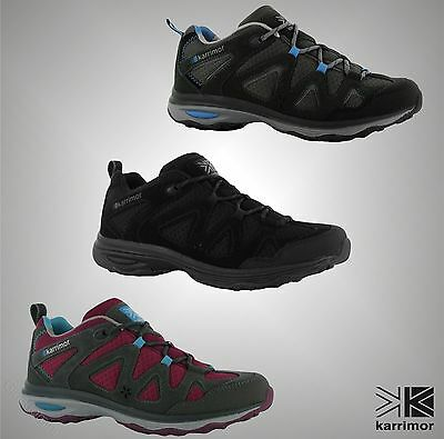 New Ladies Branded Karrimor Lace Up Mesh Border DynaGrip Walking Shoes Size 3-8
