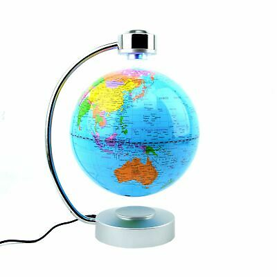 LED Magnetic Levitation Floating Earth Globe Blue Home Office Decor Gift Toys