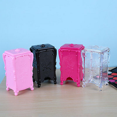 Acrylic Nail Art Cotton Pads Swab Box Holder Cosmetic Storage Container