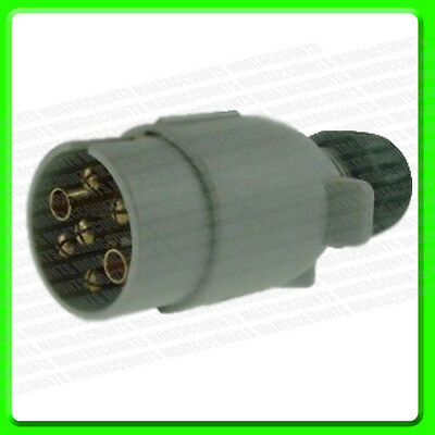 12S 7 Pin Grey Towing Plug in Plastic [MP029] Caravan Supplementary Electrics