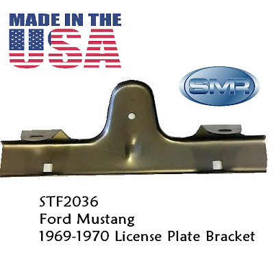 1969 1970 Mustang Front License Plate Bracket  Made In The USA BY SMR PREMIUM