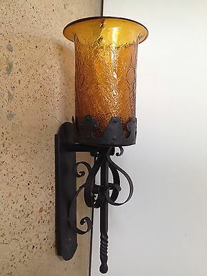 Gothic Light Fixture With Original Glass