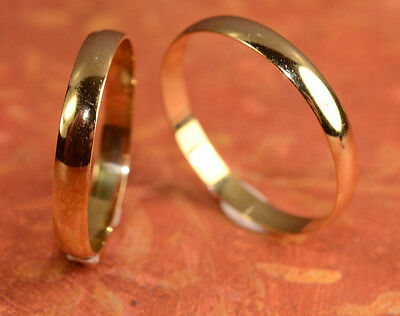 His And Hers Gold Rings/ Multiple Wedding Band Set bride and groom 3m L6 M 9