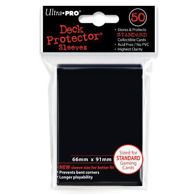 Ultra Pro Card Sleeves (50) - Deck Protector Standard Size - Black