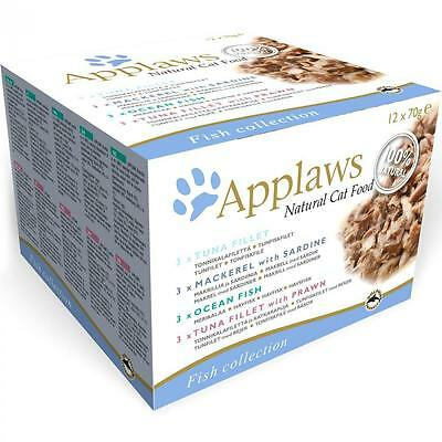 Applaws Natural Fish Selection Multipack Cat Food Wet 12x70g