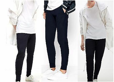 Men Slim Fit Tracksuit Bottoms Skinny Joggers Sweat Pants Gym Trousers