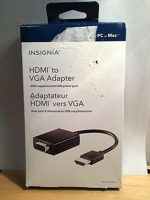 Insignia HDMI to VGA Adapter With USB Power Port - NS-PG95503-C