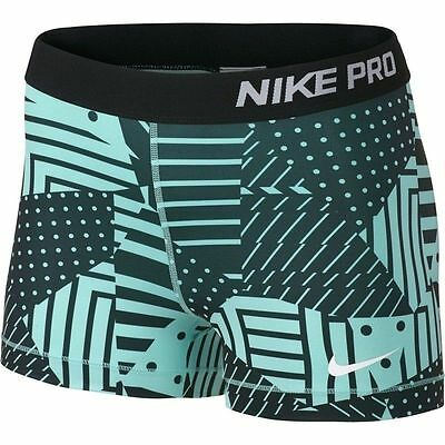 """Nike Women's Pro Cool 3"""" Compression Shorts Size Small 811485 498 NWT"""