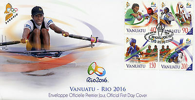 Vanuatu 2016 FDC Summer Olympic Games Rio 2016 4v Cover Boxing Olympics Stamps