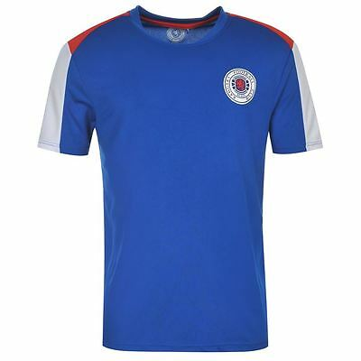 Glasgow Rangers FC Core Polyester T-Shirt Mens Football Soccer Top LIMITED EDI