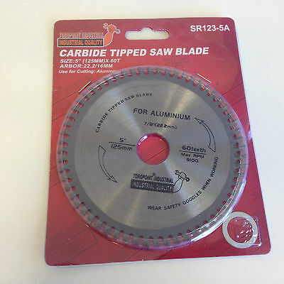 """5"""" (125mm) - 22.2/16mm Bore Aluminium Cutting Saw Blade (Wood available)"""