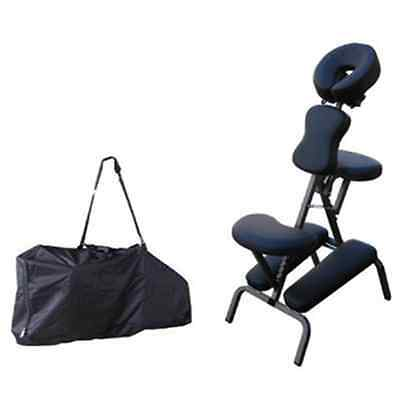 "4"" High Density Padding Portable Massage Chair PU Leather Adjustable Height"