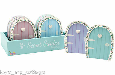 Little Secret Garden Wooden Fairy Elf Door Decoration Magical Children's Gift