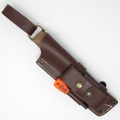 TBS Leather Nordic Dangler Type Knife Sheath with DC4 and Firesteel Attachment