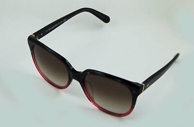 ebe7f247a3e6b Kate Spade Bayleigh S Sunglasses Rose to Black Tortoise Fade Brown Gradient  55mm