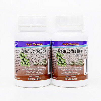 Green Coffee Bean Supreme Double Pack Weight Loss Diet Pills Fat Burner