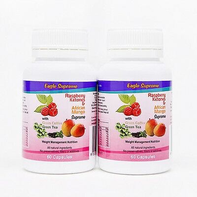 Raspberry Ketones Double Pack Weight Loss Diet Pills Fat Burner Appetite Sup