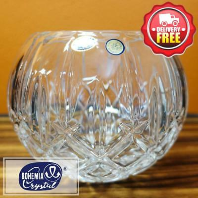 Bohemia Crystal Sheffield Rose Bowl 17.5cm | RRP $199