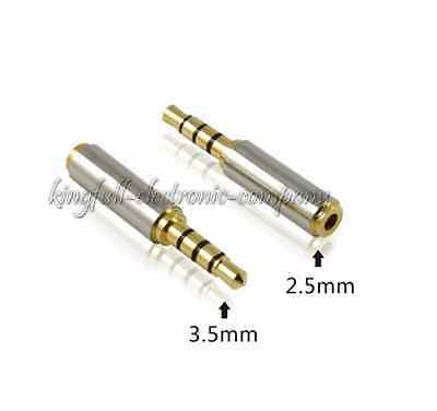 2PCS 3.5mm Male Plug To 2.5mm Female Jack Audio Video Adapter