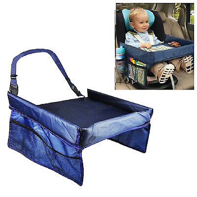 2 x Kids Safety Waterproof Snack Car Seat Table Play Travel Tray Drawing Board
