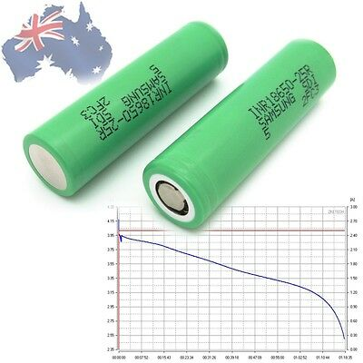 2 x Samsung 25R Rechargeable Lithium Ion 18650 Battery 2500mAh, Genuine, SYDNEY
