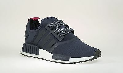 quality design 02673 54d85 ADIDAS NMD R1 Runner W Nomad Women's Collegiate Navy Blue Red S76011 6.5-11