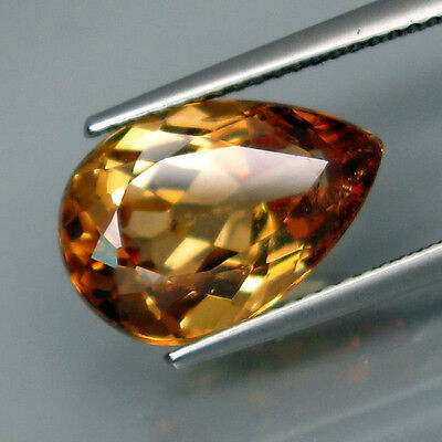 7.21 Cts Excelente. Color Champan. Natural Imperial Topacio- Vs