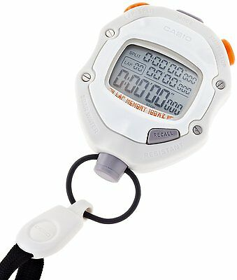 CASIO Stop Watch HS-70W-8JH White Waterproof Sports Stopwatch Japan Free ship