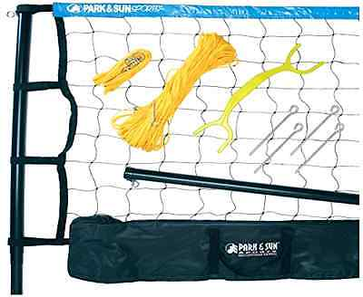 Park Sun Tournament Blue Volleyball Net Includes 2 Telescoping Poles Sporting