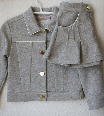 La Stupenderia Baby Grey Jacket And Skirt Outfit 24 Months