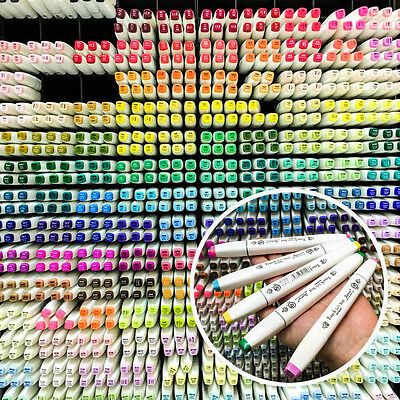 40/60/80/168 Colors Touch Quality Art Sketch Twin Marker Pens EXPRESS SHIP A1690