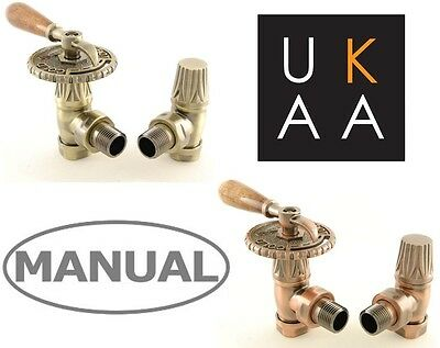 Bentley Lever Manual Radiator Valves - Industrial Vintage Style - Easy to Use