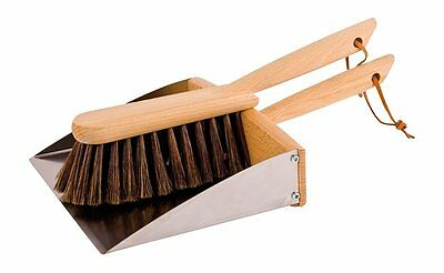 Redecker Dustpan and Brush Set with Magnet Professional Sweeping Household