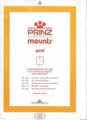 Assortment of 5 Prinz SS-94 BLACK Mounts U.S. Souvenir Sheets for 1994