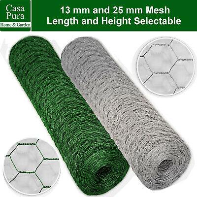 Garden Wire Mesh Fencing Net * Hexagonal Chicken Rabbit Aviary Netting Panels