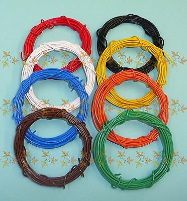 Quality, UK made, Thin-walled Automotive Wire / Cable -  8 COLOURS &  4 LENGTHS
